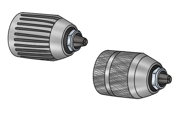 Chucks are used to hold the drill bit in place securely on the drill or brace