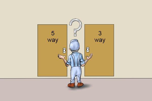 Choice between a 3 way ratchet and a 5 way ratchet