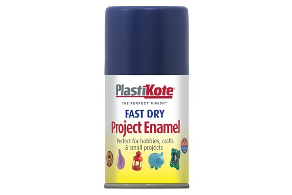 Enamel spray paint forms a hard shiny finish on metal and will protect against corrosion