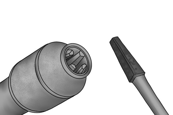 4 jaw chucks can hold both square and round shank drill bits