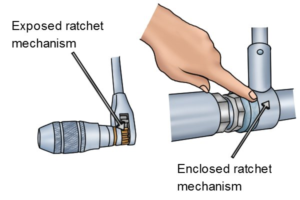 A brace with an enclosed ratchet is less likely to get a clogged ratchet mechanism meaning it should last longer