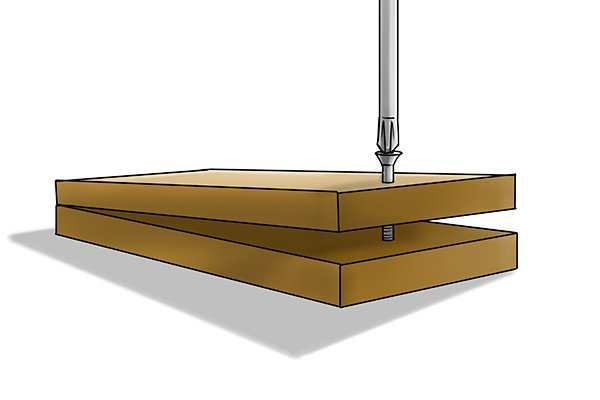 A gap can be generated between the two pieces of wood you want to attach if a screw is driven in without first drilling a pilot and clearance hole.