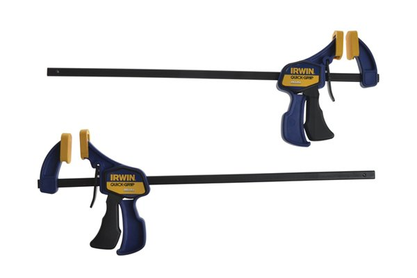 Clamps can be used to hold two or more parts of a workpiece together freeing your hands to operate a hand drill