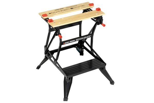 Work benches allow you to rest a workpiece at a comfortable height for using a hand drill