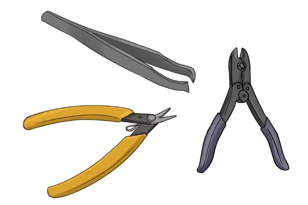 The types of sprue cutter are; Tweezer action, single lever action, and compound lever action.