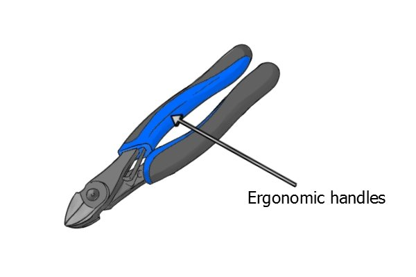 Some sprue cutters have ergonomic handles for improved comfort during use.