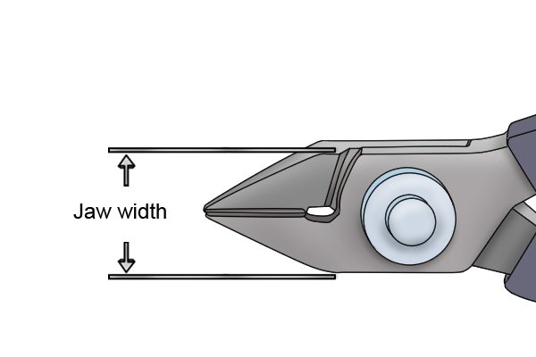 Sprue cutter jaw width