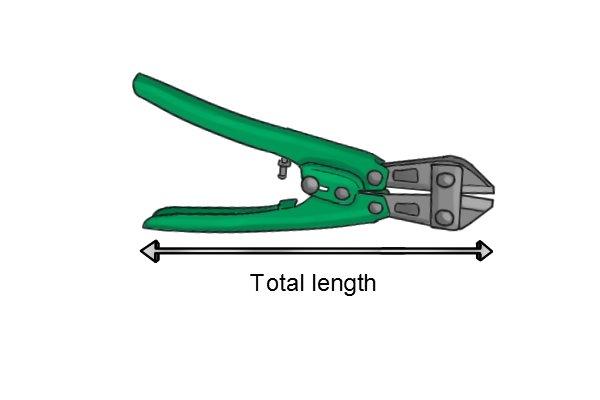 Sprue cutter total length