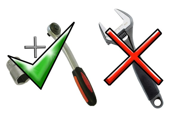 A socket and ratchet are often better suited to tightening and loosening fasteners than a spanner is