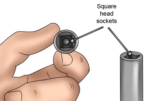 Square head sockets wear the first to be made as this shape was the easiest to produce
