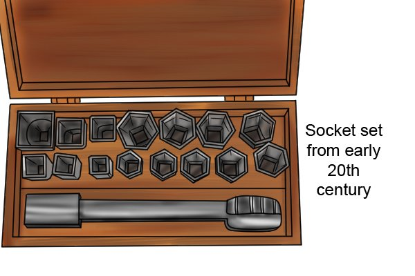 Socket set from the early 20th century