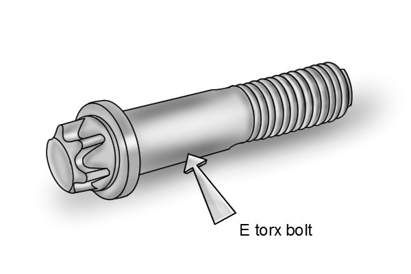 E Torx bolts allow more torque to be applied than Hex or Bi-Hex bolts