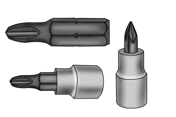 The bits used in socket bits are sized in the same way as ordinary screwdriver bits would be so that is PH sizes for Philips bits.