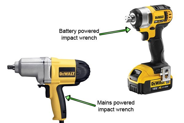 Electric impact wrenches can be either mains or battery powered