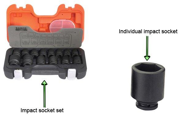 Individual impact socket and set of impact sockets