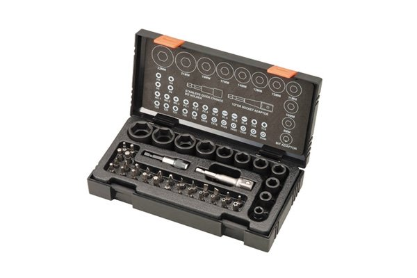 A socket set that also contains socket bits can be useful