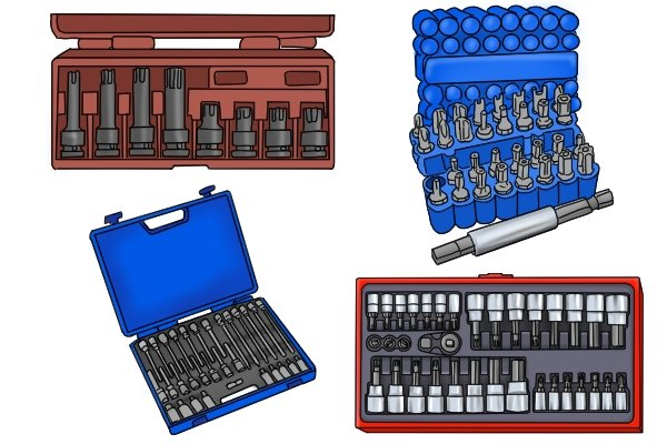 In-Hex and socket bit sets can be purchased separately if needed