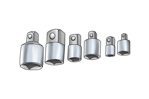 Socket adaptors allow you to use ratchets with different drive square sizes to the drive socket size of your sockets.