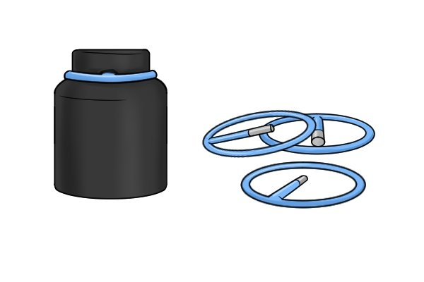 Larger impact sockets will sometimes require a retaining ring and pin to secure them adequately to an impact wrench