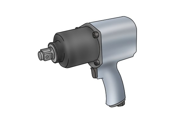 Pneumatic impact wrench should only be used with impact sockets