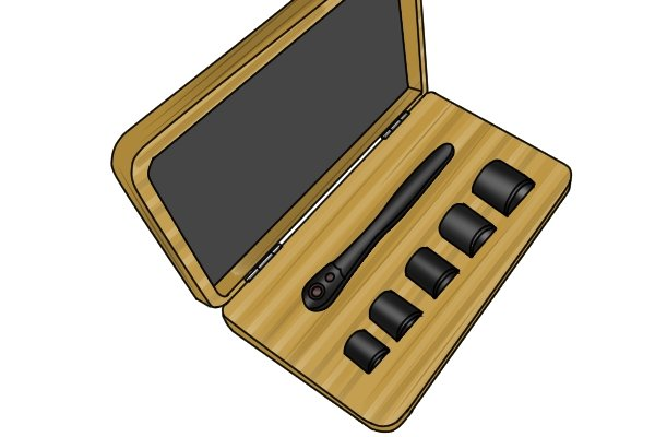 Snap on 75th anniversary socket set in wooden case