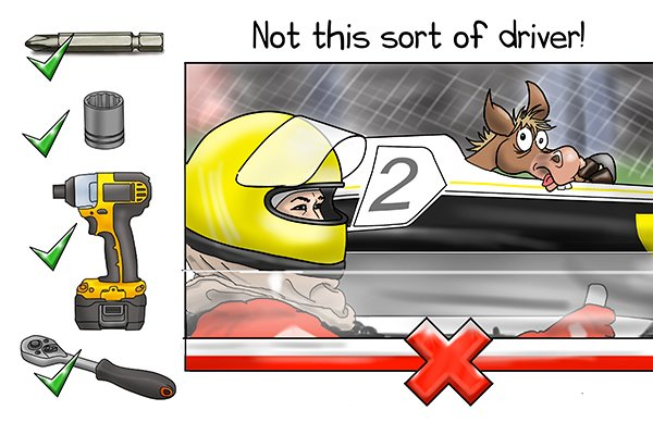 A driver in relation to a socket is the object doing the turning. It can be a socket, a socket bit, a drill or a ratchet. Not a racing driver though. Not this sort of driver
