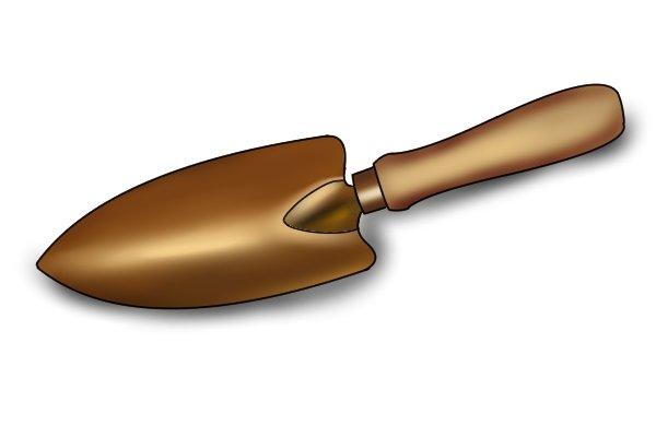 Copper garden trowel