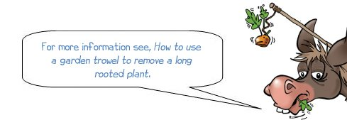"""Wonkee Donkee says """"For more information see, How to use a garden trowel to remove a long rooted plant"""""""