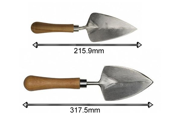 Length of a planting garden trowel 215.9mm and 317.5mm