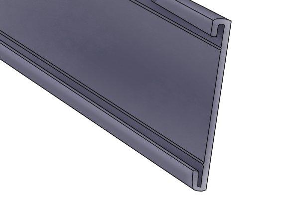 C profile flexible warehouse magnet