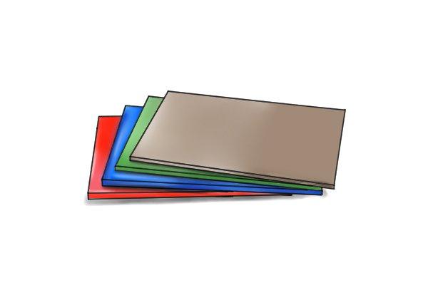 Coloured PVC sheets