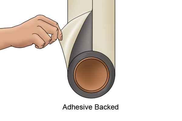 Adhesive backed flexible magnetic sheet