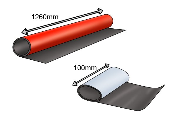 Width of flexible magnetic sheet 100mm and 1260mm
