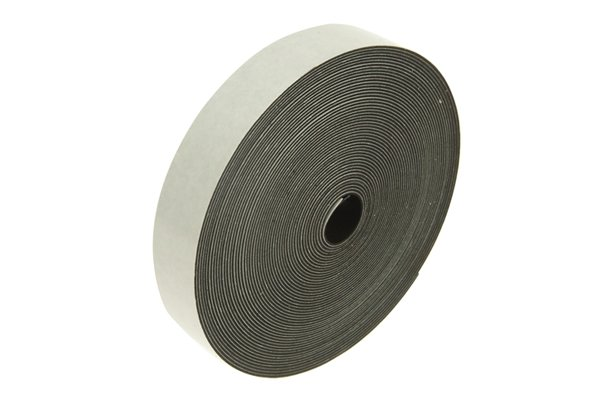 White roll of flexible magnetic tape