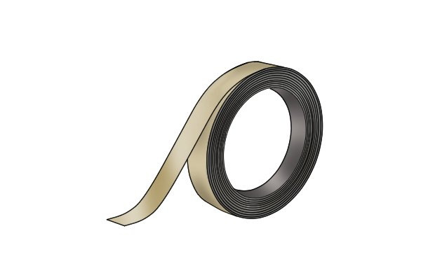 Red flexible magnetic tape