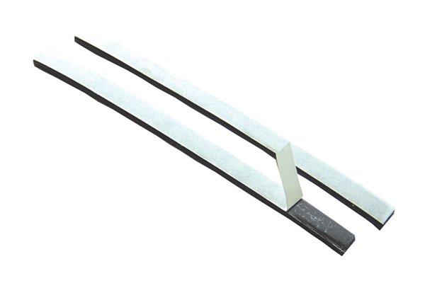 Cut strips of flexible magnetic tape