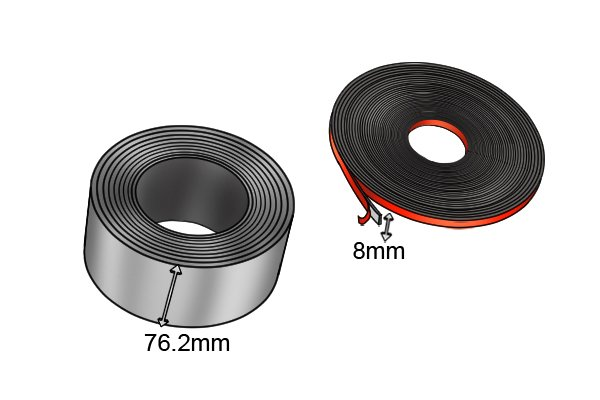 Width of flexible magnetic tape 76.2mm and 8mm