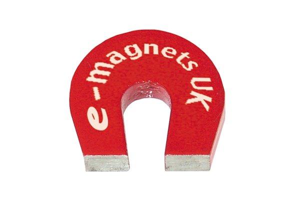 Red pocket horseshoe magnet
