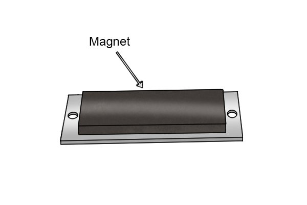 Magnet on a through hole magnetic mounting pad