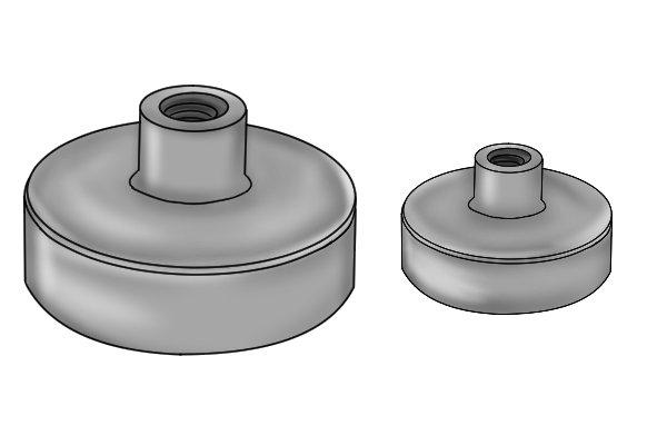 Samarium cobalt SmCo internal threaded female pot magnet