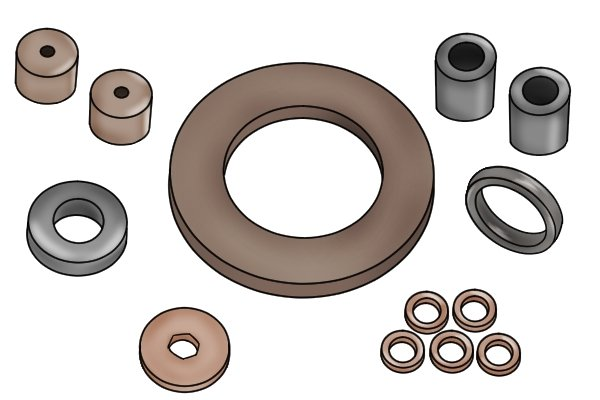 Variety of nickel-copper-nickel coated magnets