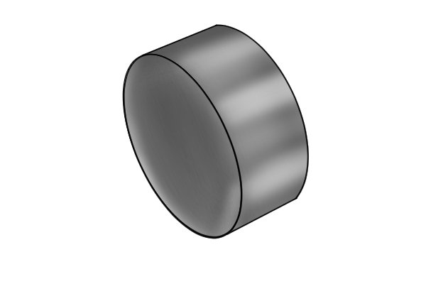 Zinc plated disc magnet
