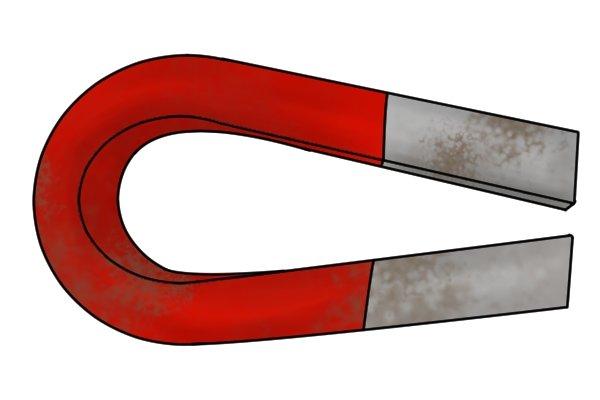 Rusty pocket horseshoe magnet