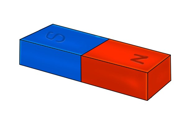 blue and red rectangle bar magnet