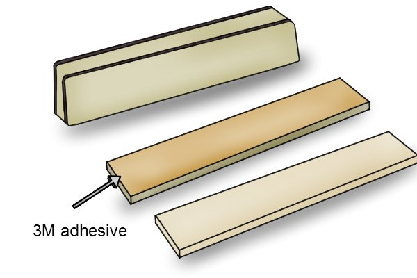3M adhesive on a rectangle bar magnet