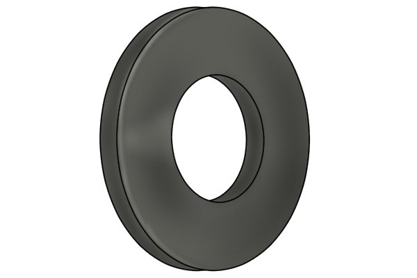 Grey ferrite ring magnetic disc