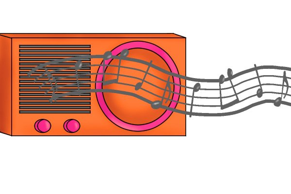 Music out of a speaker