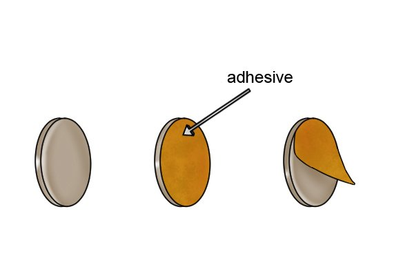 three 3M adhesive backed basic magnetic discs