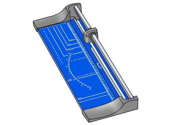 Guillotine paper cutter for cutting flexible magnetic sheet