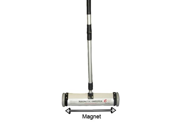 Heavy duty push magnetic sweeper magnet